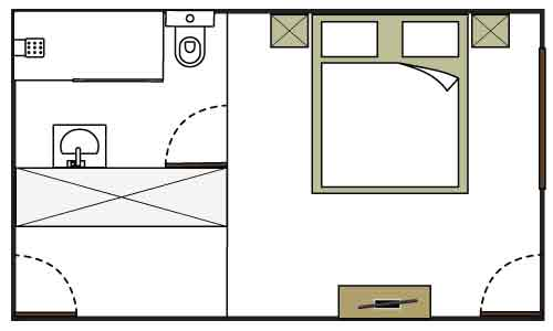 Beer garden room floor plan - not to scale