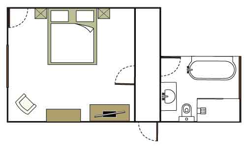 Bluestone room floor plan - not to scale